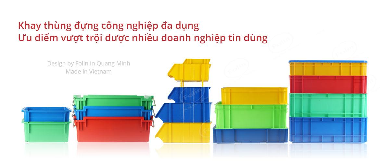 Khay nhựa -Thùng đựng công nghiệp Folin